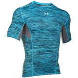 Under Armour UA HG CoolSwitch Comp SS Camiseta de Manga Corta, Hombre, Blanco, L